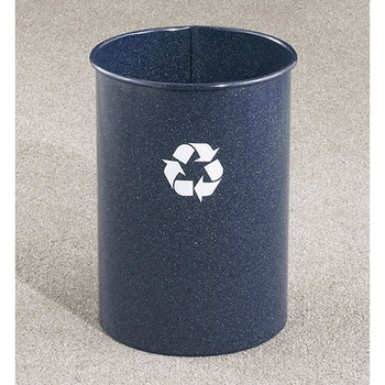 Glaro RecyclePro Open Top Recycling Bin, 10 x 15, 5 Gallon - RO66 - finished in Blue Marble