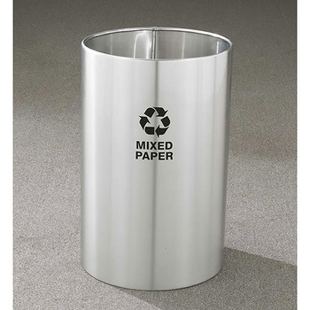 Glaro RecyclePro Open Top Recycling Bin - 15 x 23 - 18 Gallon - RO1523SA