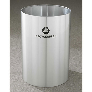 Glaro RecyclePro Open Top Recycling Bin - 20 x 29 - 39 Gallon - RO2029SA