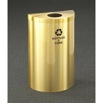 Glaro RecyclePro Profile Value Half Round Recycling Bin - 18 x 30 x 9 - 16 Gallon - B1899VBE