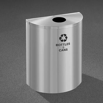 Glaro RecyclePro Profile Half Round Recycling Bin - 28-1/2 x 24 x 12 - 29 Gallon - B2499SA