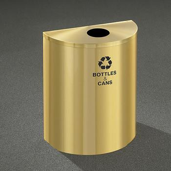 Glaro RecyclePro Profile Half Round Recycling Bin - 28-1/2 x 24 x 12 - 29 Gallon - B2499BE