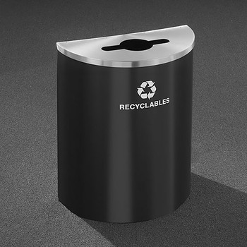Glaro RecyclePro Profile Half Round Recycling Bin - 28-1/2 x 24 x 12 - 29 Gallon - M2499