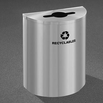 Glaro RecyclePro Profile Half Round Recycling Bin - 28-1/2 x 24 x 12 - 29 Gallon - M2499SA