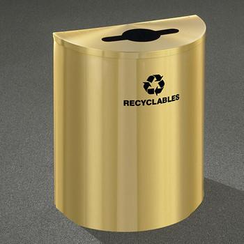 Glaro RecyclePro Profile Half Round Recycling Bin - 28-1/2 x 24 x 12 - 29 Gallon - M2499BE