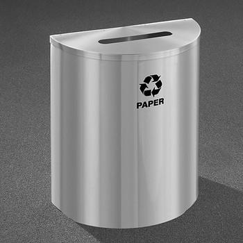 Glaro RecyclePro Profile Half Round Recycling Bin - 28-1/2 x 24 x 12 - 29 Gallon - P2499SA