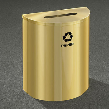 Glaro RecyclePro Profile Half Round Recycling Bin - 28-1/2 x 24 x 12 - 29 Gallon - P2499BE