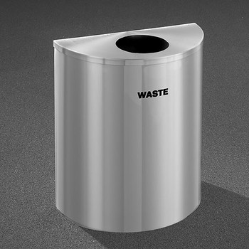 Glaro RecyclePro Profile Half Round Waste Bin - 28-1/2 x 24 x 12 - 29 Gallon - W2499SA