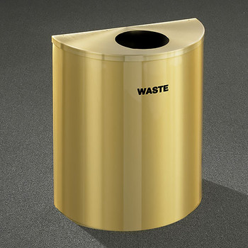 Glaro RecyclePro Profile Half Round Waste Bin - 28-1/2 x 24 x 12 - 29 Gallon - W2499BE