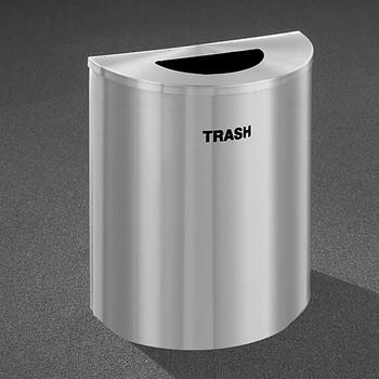 Glaro RecyclePro Profile Half Round Waste Bin - 28-1/2 x 24 x 12 - 29 Gallon - T2499SA