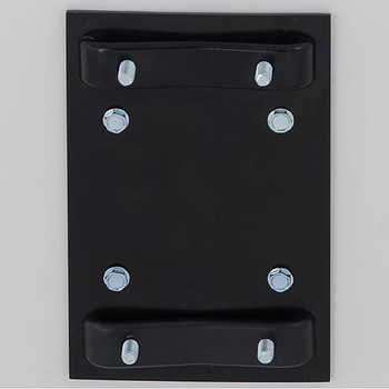 Glaro Antibacterial Wipe Dispenser Wall Mounting Bracket - Satin Black - Included