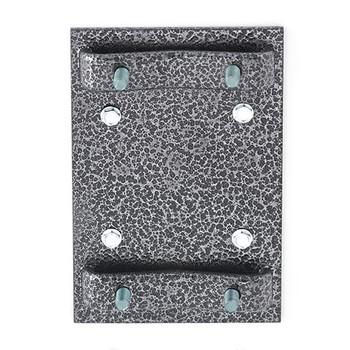 Glaro Antibacterial Wipe Dispenser Wall Mounting Bracket - Silver Vein - Included
