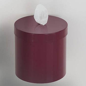 Glaro Antibacterial Wipe Dispenser W1015BY - Wall Mounted - Finished in Burgundy