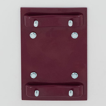 Glaro Antibacterial Wipe Dispenser W1015BY - Wall Mounting Bracket - Finished in Burgundy - Included