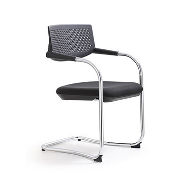 Woodstock Shankar Side Chair - Black - Angle View