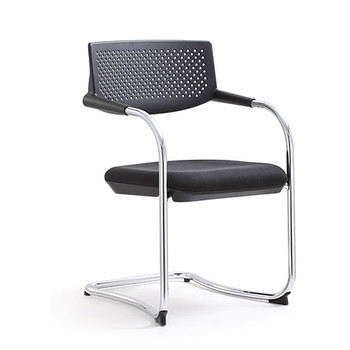 Woodstock Shankar Side Chair - Black - Front Angle View