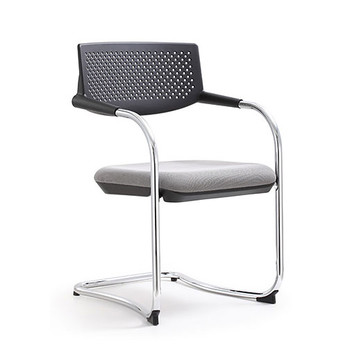 Woodstock Shankar Side Chair - Gray - Front Angle View