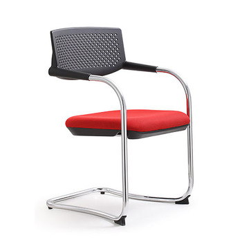 Woodstock Shankar Side Chair - Red - Side Angle View