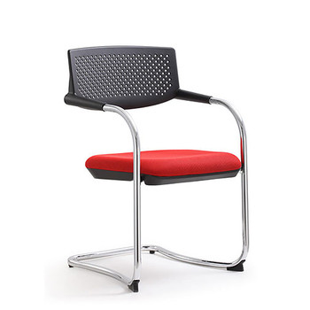 Woodstock Shankar Side Chair - Red - Front Angle View