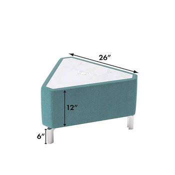 Woodstock Jefferson Triangle Table - Measurements - Light Blue