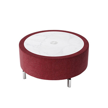 Woodstock Jefferson Round Coffee Table - Burgundy