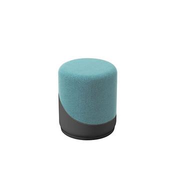 Woodstock Jefferson Upholstered Stool - Light Blue