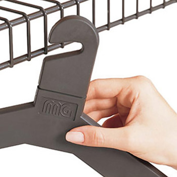 Magnuson Anti-Theft Coat Hanger MG17PM for Use on Wire Hanger Rails