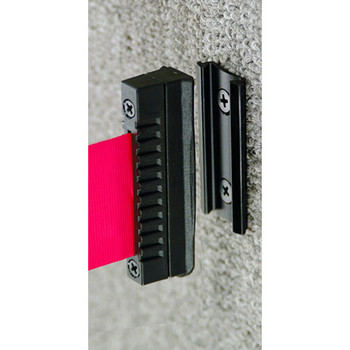Glaro Extenda-Barrier Retractable Strap Wall Receptor - BW3-BK