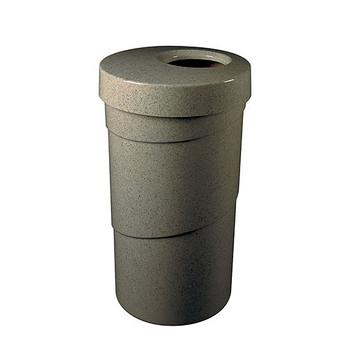 Peter Pepper Spiral 1065 Trash Can - Fiberglass - 26 Gallon