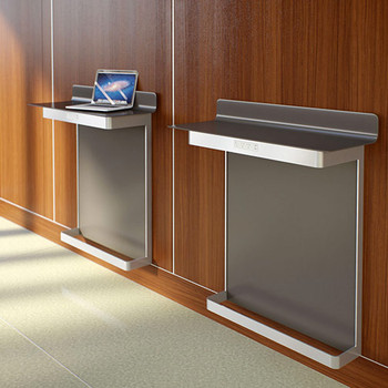 Peter Pepper Go-To Wall Mounted Work Tables with Foot Rail GTR