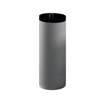 Peter Pepper 282 Steel Trash Can with Black Top Ring - 24 Inches High
