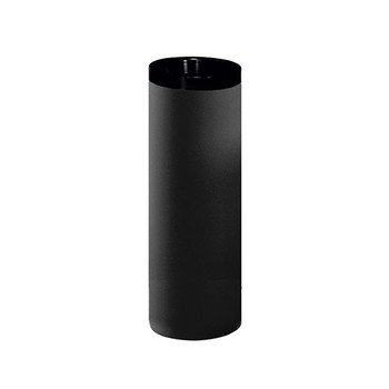 Peter Pepper 283 Steel Trash Can with Black Top Ring - 28 Inches High