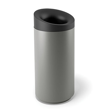 Peter Pepper Tilt Trash Can TL-T - Top Opening - Aluminum Metallic - 20 x 43 - 30 Gallon  Image shown is the Aluminum Metallic model to illustrate design.