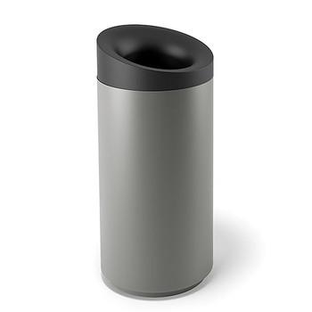 Peter Pepper Tilt Recycling Bin TL-T-R - Top Opening - Aluminum Metallic - 20 x 43 - 30 Gallon