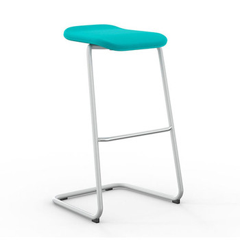 Peter Pepper StackR Stacking Stool with White Frame and Upholstered Seat