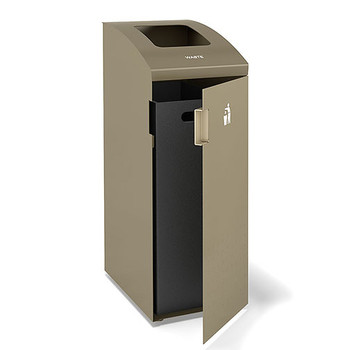 Peter Pepper ReSort Recycling Bin- RS14 - Finished in Taupe Metallic Powder Coat - Waste Opening