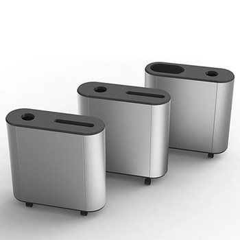 Peter Pepper ReMix Recycling Station - DUO-S - Finished in Aluminum Metallic - D1 (Front) & D5 (Rear) Configurations