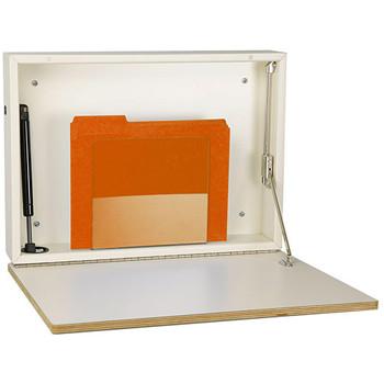 Peter Pepper 4900-D Self-Closing Wall Mounted Folding Desk - Deployed
