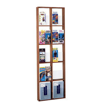 Peter Pepper 600-QS Magazine and Literature Rack - 10 Pocket - Vertical