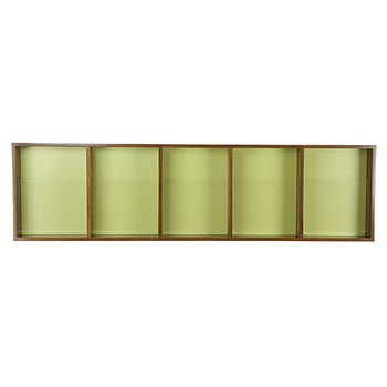 Peter Pepper 603 Magazine and Literature Rack - 5 Pocket - Horizontal - Mahogany Frame Finish