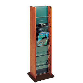 Peter Pepper 480PR - 14 Pocket Rotating Magazine Rack (Image is of 480P with adjustable glides, not included on 480PR)