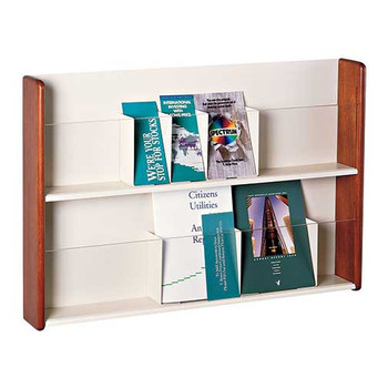 Peter Pepper 487-2P - 2 Pocket Universal Literature Rack - Clear Acrylic Front Panels