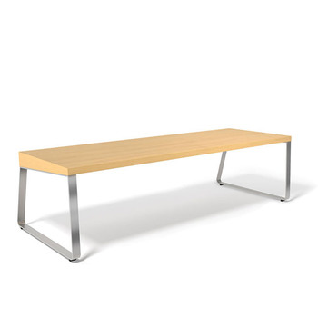 Peter Pepper AR72 Arrow Bench - 72 Inches Wide - Indoor - Natural Maple Seat