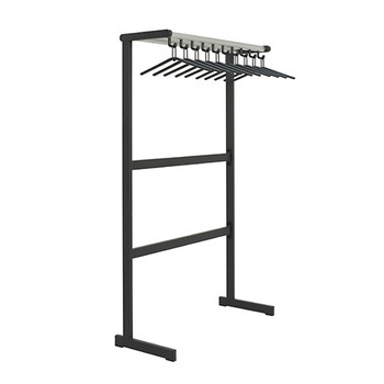 "Magnuson Tertio Coat Rack T-EV/K-100 - 40"" - Free Standing - Single Sided - 10 Hangers Included - Aluminum Shelf"
