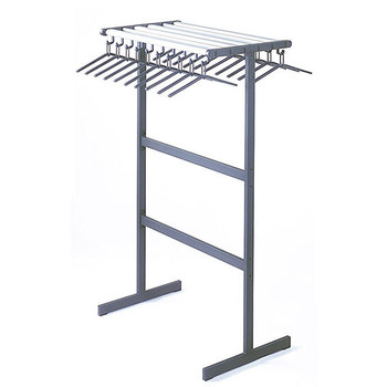 "Magnuson Tertio Coat Rack T-DV/K-100 - 40"" - Free Standing - Double Sided - 20 Hangers Included - Aluminum Shelf"