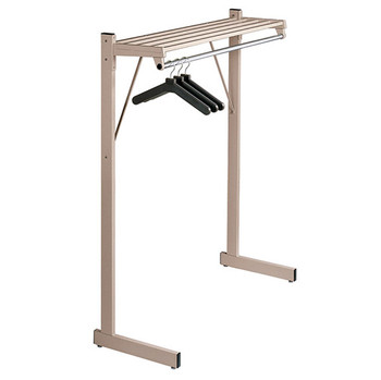 "Magnuson Coat Rack DSF-3H - 48"" - Free Standing - Single Side - Hanger Rod"