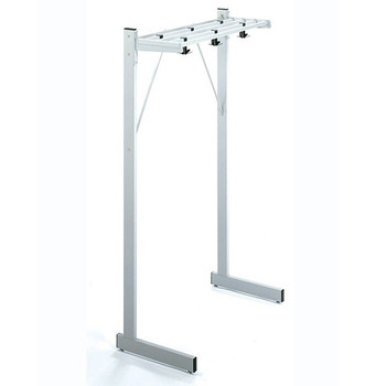 "Magnuson Coat Rack DSF-4K - 48"" - Free Standing with Coat Hooks - Image is of 36"" Unit for Design Illustration - Not to Scale"