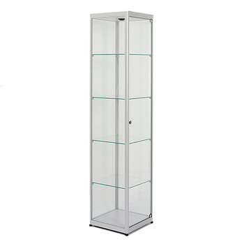 "Magnuson VA040 Pictor Display Case - 72"" H x 16"" Square - Locking"