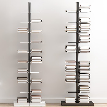 Magnuson Usio-FD Vertical Book Shelves - Double-Sided - Freestanding