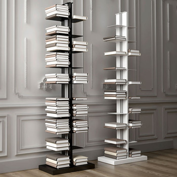 Magnuson Usio-FD Vertical Book Shelving - Double-Sided - Freestanding - Angled